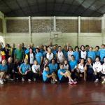 Grupo de vôlei adaptado de Campinas em treinamento