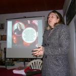 Fisioterapeuta na reunião mensal, em Itapeva